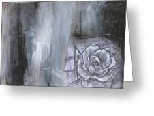 Colorful Black And White Rose Greeting Card