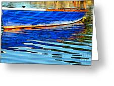 Colorful Boat On The Water Greeting Card