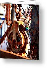 Colorful Boat Pully Greeting Card