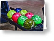 Colorful Bowling Balls Greeting Card