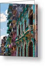 Colorful Buildings In Havana Greeting Card