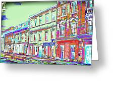 Colorful Buildings Greeting Card