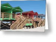 Colorful Cabanas Greeting Card