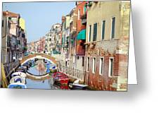 Colorful Canal Greeting Card