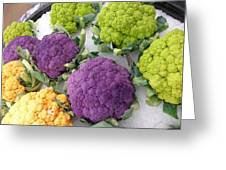 Colorful Cauliflower Greeting Card