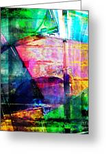 Colorful Cd Cases Collage Greeting Card