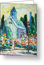 Colorful Chapel Scene Greeting Card