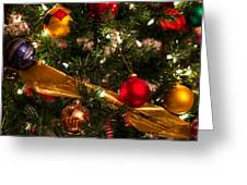 Colorful Christmas Ornaments  Greeting Card