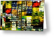 Colorful City Scene Greeting Card