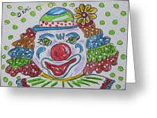 Colorful Clown Greeting Card