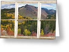 Colorful Colorado Rustic Window View Greeting Card by James BO  Insogna