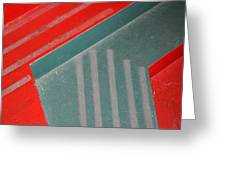 Colorful Concrete Steps Greeting Card