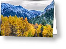 Colorful Crested Butte Colorado Greeting Card