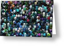 Colorful Cubes Greeting Card
