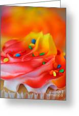 Colorful Cup Cake Greeting Card