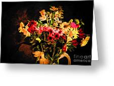 Colorful Cut Flowers - V3 Greeting Card