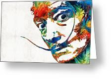 Colorful Dali Art By Sharon Cummings Greeting Card