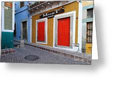 Colorful Doors Guanajuato Mexico Greeting Card
