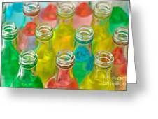 Colorful Drink Bottles Greeting Card