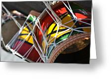 Colorful Drums Greeting Card