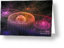 Colorful Fantasy Landscape Greeting Card