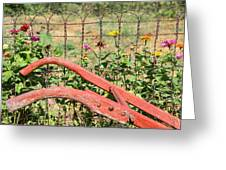 Colorful Fence Row Greeting Card