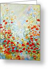 Colorful Field Of Poppies Greeting Card