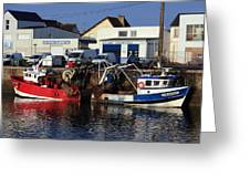 Colorful Fishing Boats Greeting Card