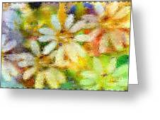 Colorful Floral Abstract II Greeting Card