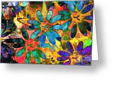 Colorful Floral Abstract IIi Greeting Card