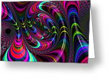 Colorful Fractal Art Greeting Card