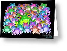 Colorful Froggy Family Greeting Card