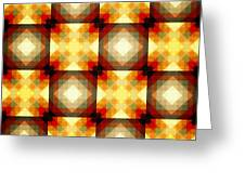 Colorful Geometric Collage Greeting Card