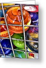 Colorful Glass Balls Greeting Card