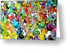 Colorful Glass Drops Greeting Card by Amy Cicconi