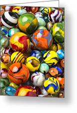 Colorful Glass Marbles Greeting Card