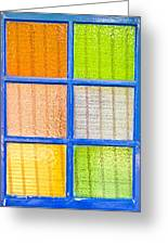 Colorful Glass Greeting Card
