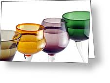 Colorful Glasses In A Row Greeting Card