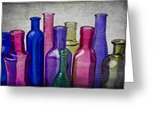 Colorful Group Of Bottles Greeting Card