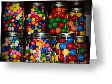 Colorful Gumballs Greeting Card by Paul Ward