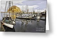 Colorful Harbor II Impasto Greeting Card
