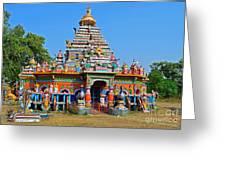 Colorful Hindu Temple Greeting Card
