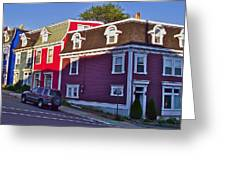 Colorful Homes In Saint John's-nl Greeting Card