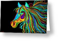 Colorful Horse Head 2 Greeting Card