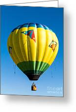 Colorful Hot Air Balloon Over Vermont Greeting Card