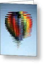 Colorful Hot Air Balloon Ripples Greeting Card