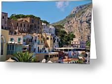 Colorful Houses In Capri Greeting Card