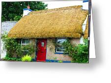 Colorful Irish Cottage Greeting Card