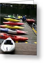 Colorful Kayaks At Whistler Bc Greeting Card