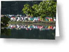 Colorful Kayaks Greeting Card